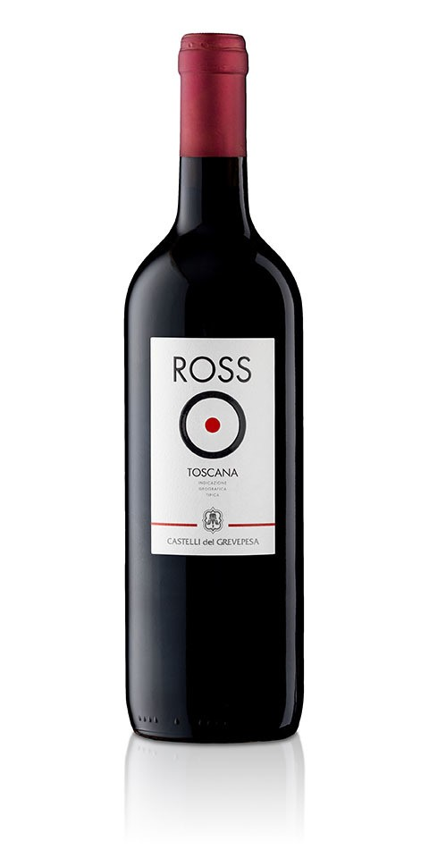 A bottle of RossO, an excellent Tuscan red wine igt produced by Castelli del Grevepesa
