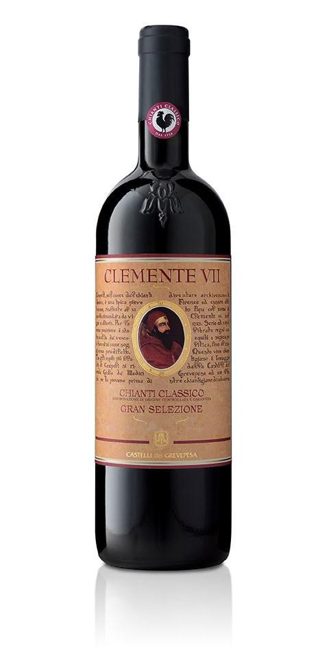 Bottiglia di Chianti classico docg Clemente VII Gran Selezione, prodotto dalla cantina Castelli del Grevepesa