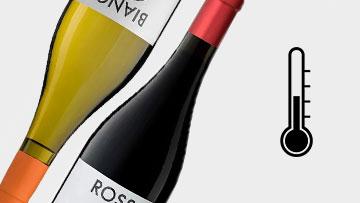 Temperatura servizio vino